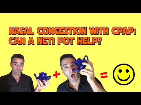CPAP Nasal Congestion and a Neti Pot. Can this help? FreeCPAPAdvice.com