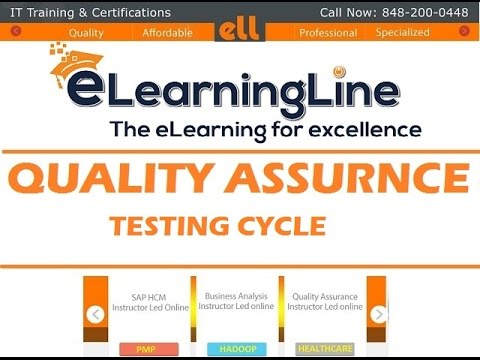 QA Tutorial for beginners - Testing Life cycle by ELearningLine @848-200-0448