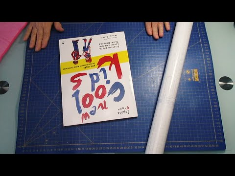 How to cover school books with adhesive plastic - diy life hacks project - #33