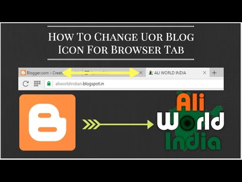 How To Change Blogger Icon On Tab View