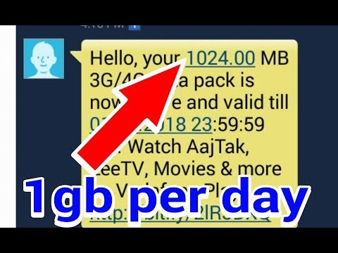 Vodafone free Internet 1gb per day / how to get free 1gb data per day _2018