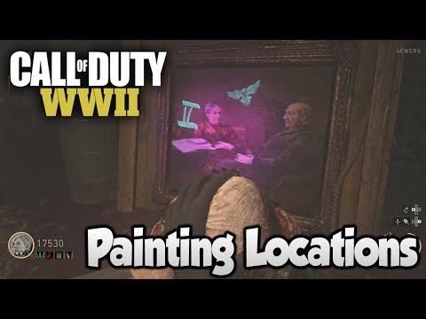 COD WW2 Zombies The Final Reich - All Painting Locations (Voice of God)
