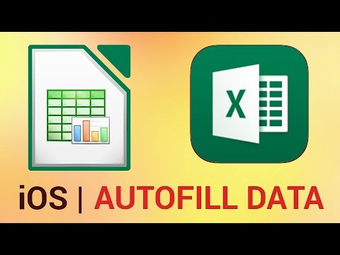 How to Autofill in Excel for iPad