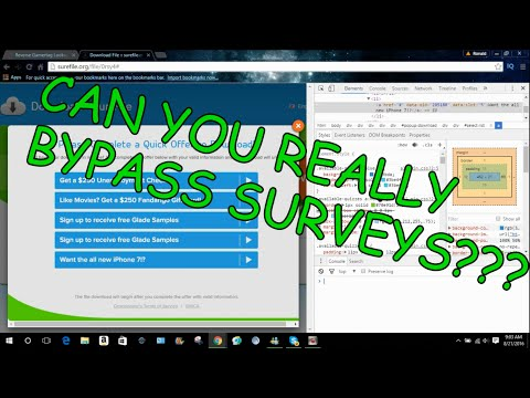 How to bypass surveys!