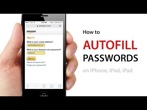 How to AUTOFILL PASSWORDS on Websites on iPhone, iPod, iPad using iOS7
