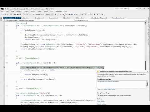 MVC 4 - SIMPLE Entity Framework CRUD Example with Composite Primary Key