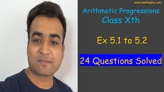 Arithmetic Progression Class 10th Ex 5.1 to 5.2 All Questions CBSE NCERT Syllabus Math