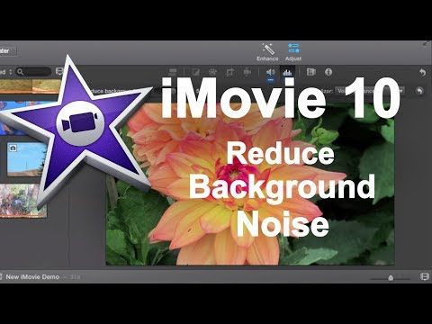 iMovie 10 - Reducing Background Audio Noise