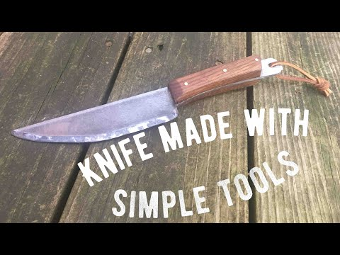 Making a knife with simple tools