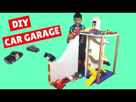How To Make Cardboard & Poster Board  Car Garage with Lift and Parking for Kids and Toy Cars