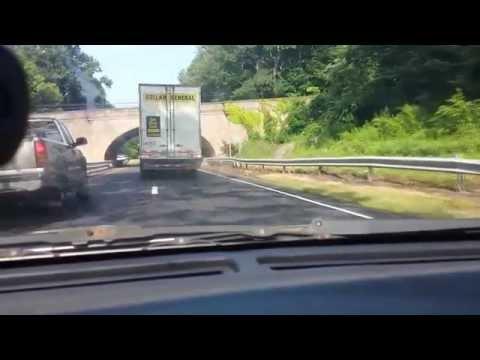 Tractor Trailer Merritt Parkway Connecticut Low Bridge