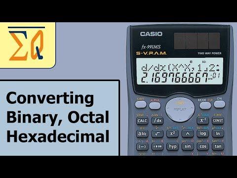 Casio Fx-991ms Binary Decimal Hexadecimal and Octal conversion