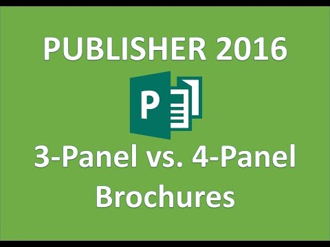 Publisher 2016 - Choose Brochure Options