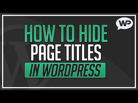 How to Hide Page Titles in WordPress [Super Easy!]