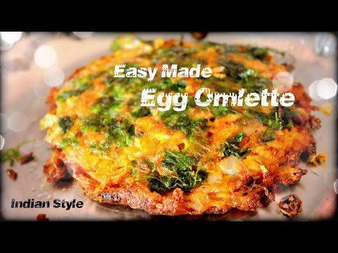 Egg omelette. Easy made, Fluffy, Tasty Indian omelet Recipe with English Subtitles ❤