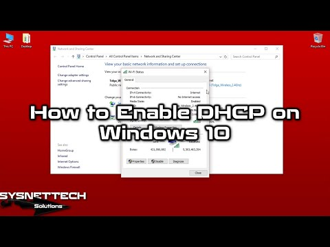 ✅ How to Enable DHCP on Windows 10 | How to Enable DHCP on Modem/Router | SYSNETTECH Solutions