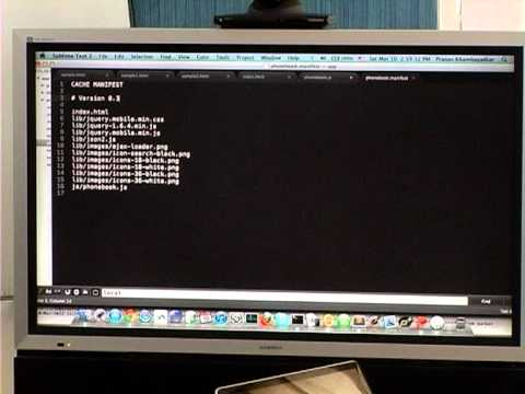 MUG2 Video14 - Developing Web Apps for iOS and Android - HTML5 DB Storage Offline Apps-PART2