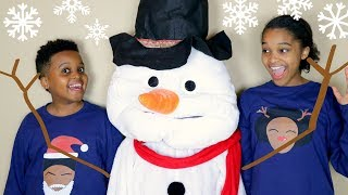 Shiloh and Shasha CHRISTMAS SNOWMAN!!! - Onyx Kids