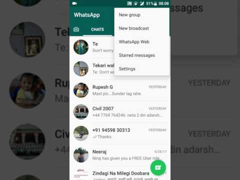 How to refresh contacts on whatsapp