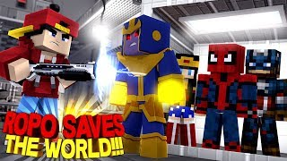Minecraft Adventure - ROPO SAVES THE SUPERHEROES & THE WORLD!!