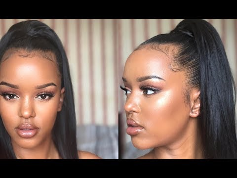 GRWM LOOK: LUVMEHAIR, SLEEK HIGH PONYTAIL, SULTRY EYES