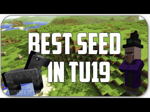 Minecraft Xbox One/Xbox 360/PS3/PS4:Best Seed In TU20  - Horses, Witchhuts, Horsearmor and Nametags