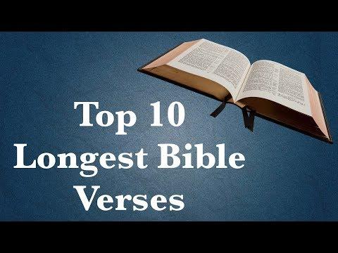 Top 10 Longest Bible Verses