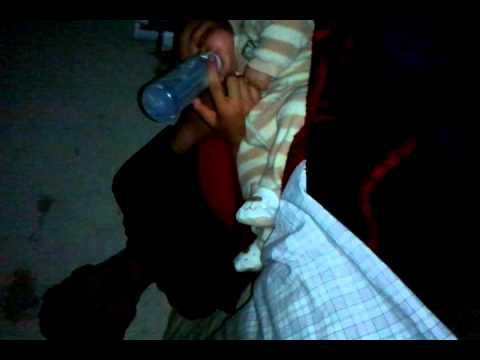 Falling asleep while feeding baby