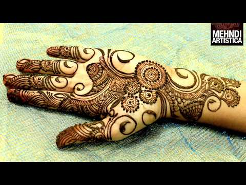 Easy Simple Beautiful Circular Mehndi Designs For Hands|Latest Henna For Palm|MehndiArtistica Design