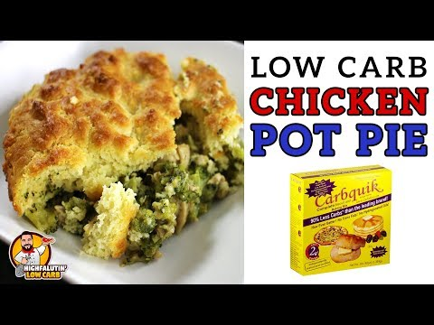 Low Carb CHICKEN POT PIE plus a CARBQUICK REVIEW! - Easy Weeknight Low Carb Casserole