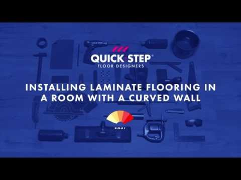 How to install laminate against a curved wall | Tutorial by Quick-Step