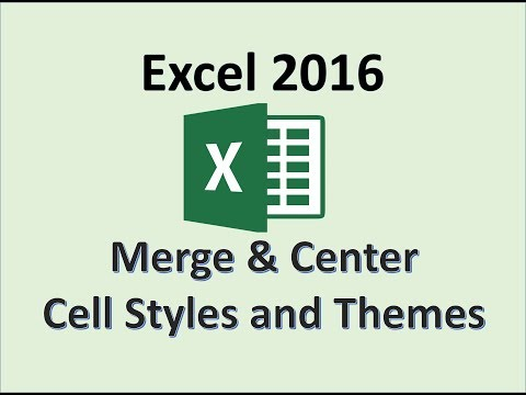 Excel 2016 - Formatting Cells - How To Merge and Center Selected Data - Format The Cell Styles in MS