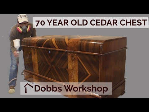 Refinishing a 70 Year Old Cedar Chest