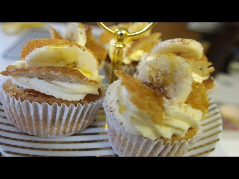 Bonoffee cup cakes