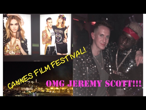 CANNES FILM FESTIVAL VLOG 1, partying with JEREMY SCOTT & CARA DELEVIGNE at MAGNUM x MOSCHINO party