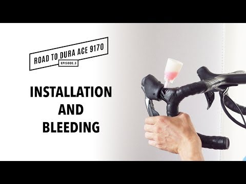 Dura Ace Disc brake Installation and bleeding How-to | Road to Dura Ace 9170 Ep.3