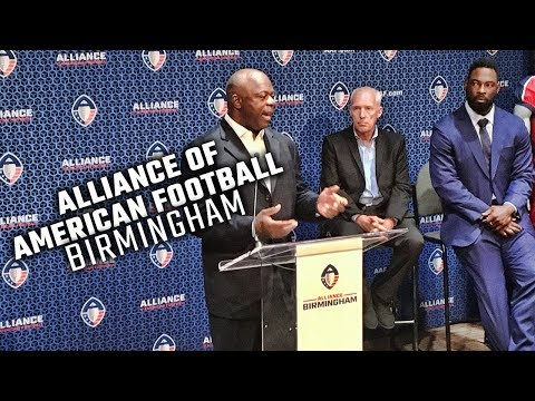 Justin Tuck, Tim Lewis, and JK McKay share vision for Birmingham's AAF football team