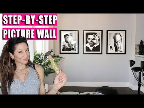 How to Hang Picture Wall - Gallery Wall - Step by Step video