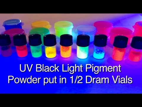 10 Color Set UV Black Light Pigment Powder GloMania