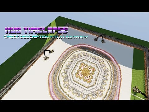 Minecraft 100X100 Server hub ! Timelapse | MCwolfGaming