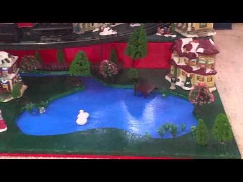 HO scale christmas tree train layout