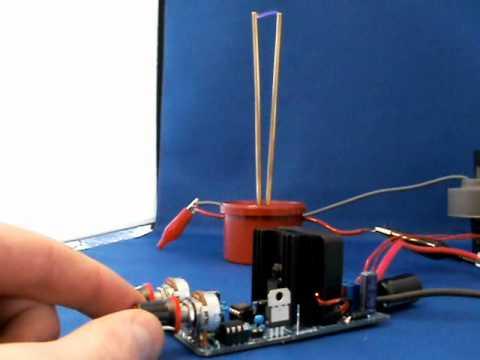 Mini battery powered Jacobs Ladder demonstration