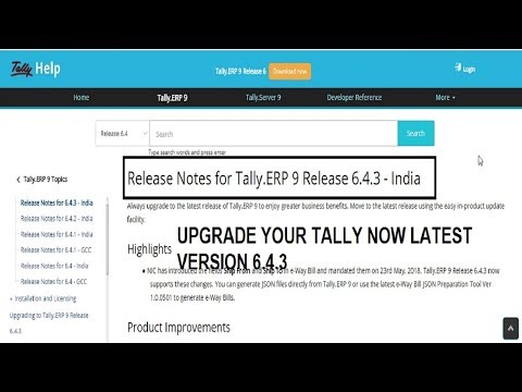 Tally Erp9 6.4.3 - Upgrade Your Tally Latest Version Tally, TALLY ERP9 6.4.3