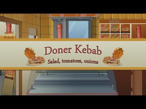 Doner Kebab : Salad Tomatoes Onions Trailer