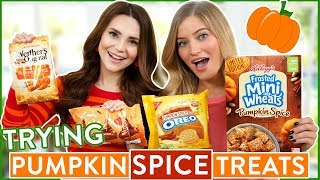TRYING FUN PUMPKIN SPICE FLAVORED FOOD
