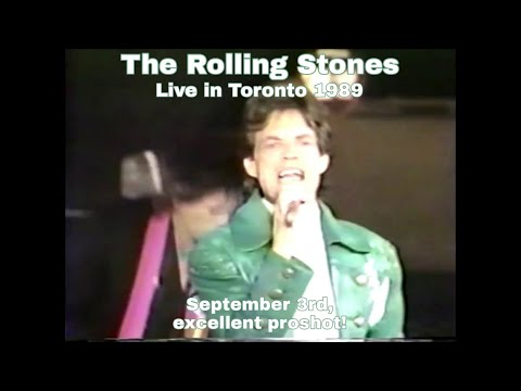 The Rolling Stones - Live in Toronto 1989 - Excellent proshot!