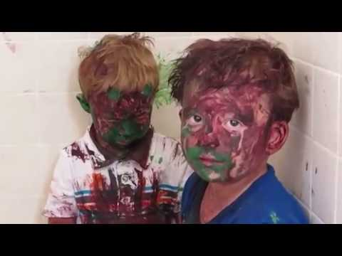 Kids covered in paint...HILARIOUS!!!