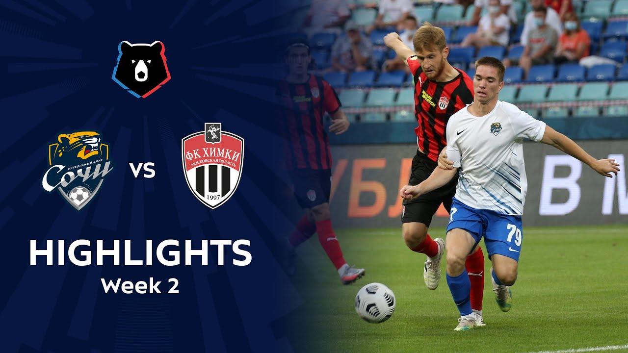 Highlights FC Sochi vs FC Khimki (1-1)   RPL 2020/21