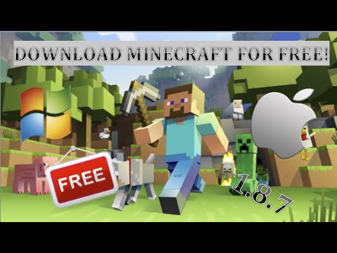 How to download Minecraft for FREE latest version 1.8.7 (no survey)(direct download)