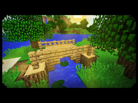 ✔ Minecraft: How to make a Small Wood Bridge